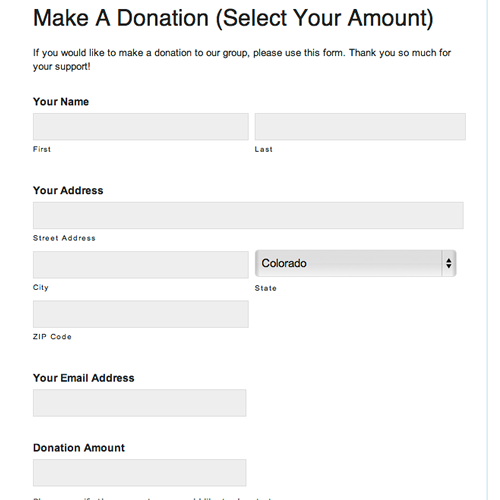 Superb Online Donation Form For Any Amount