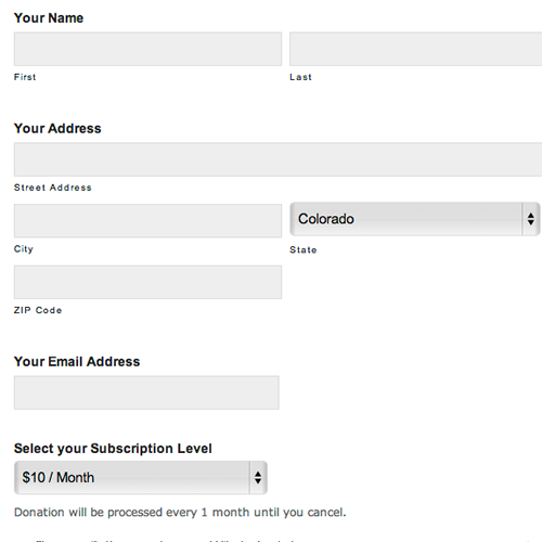 online paper form for credit card charging